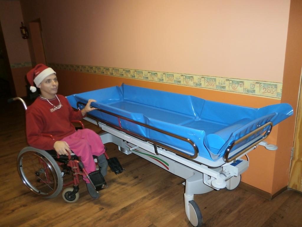 Badevorrichtung für die Pflegestation Vegi in Lettland