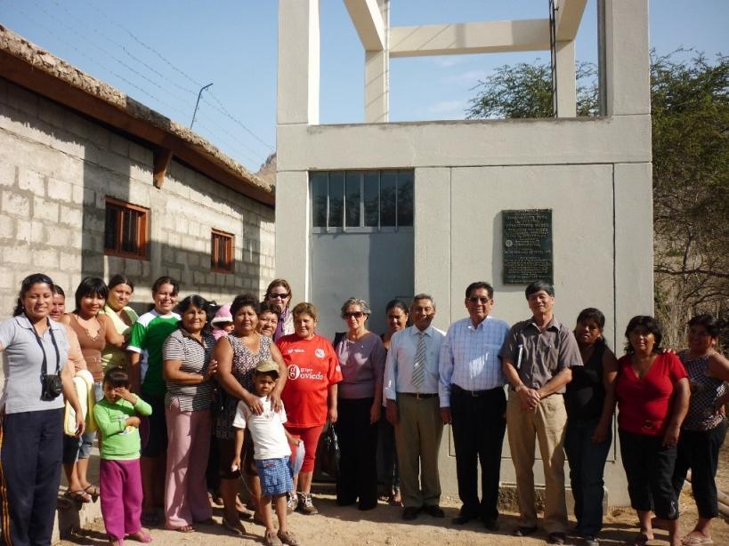 Übergabe der Wasserversorgungsanlage in Saltur/Peru