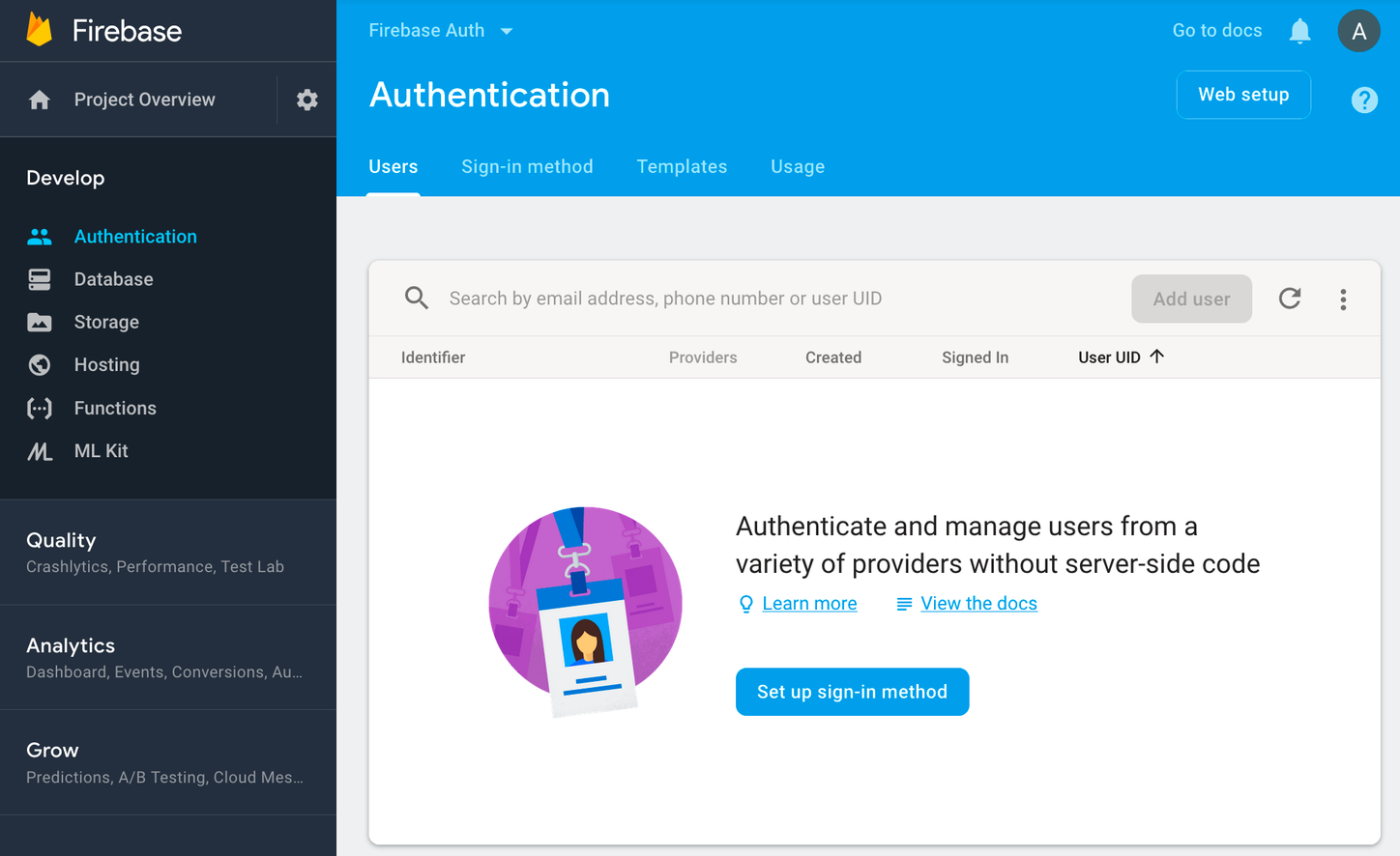 Integrating Google Firebase Auth