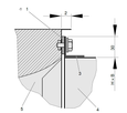 TVA Dimensions and weight Detail of flange