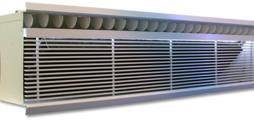 Unidad de inducción para impulsión de aire frontal desde pared