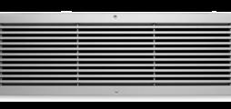 Balvast wandrooster van aluminium met vaste horizontale lamellen