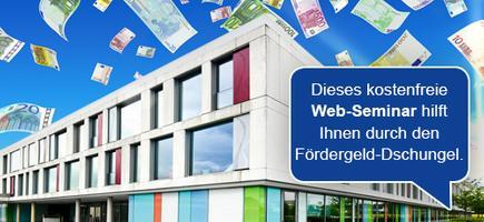"""Web-Seminar: """"Förderung von RLT-Anlagen und Luftreinigern"""""""