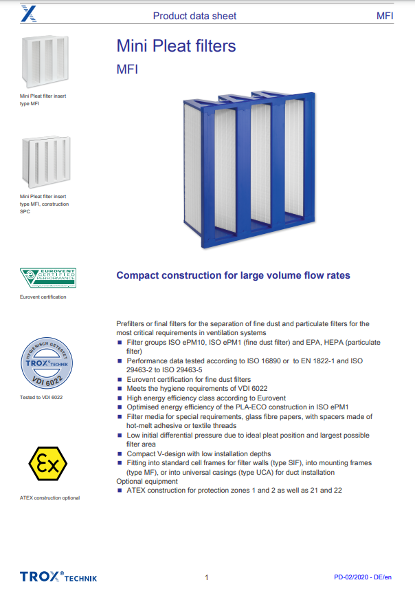 EN MFI Product data sheet