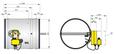 FKR-EU mit Federrücklaufantrieb in Ex-AusführungStutzenausführung