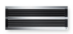 Ventilation grilles, made of high-quality aluminium – also for continuous horizontal runs