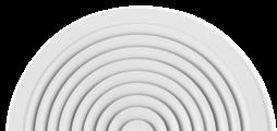 Impulsión de aire horizontal radial con deflectores de aire fijos - frontal de difusor de aluminio