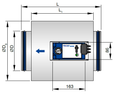 VAV terminal unit with acoustic cladding (TVE-D)