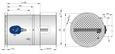 FKR-EU mit Schmelzlot (FKR-EU/.../Z0*) und Abschlussgitter als ÜberströmöffnungsverschlussFlanschausführung