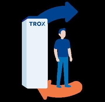 Illustration TROX LUFTREINIGER sichere Luftverteilung