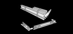 Монтажные рамки из оцинкованной листовой стали, для простого и быстрого монтажа вентиляционных решеток