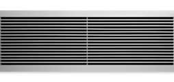 Ventilation grilles, made of aluminium, with fixed horizontal blades – also for horizontal runs