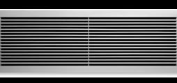 Wandroosters van aluminium met vaste horizontale lamellen – ook als roosterband