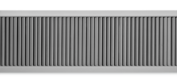 Ventilation grilles, made of aluminium, with individually adjustable, vertical blades