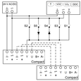 XS0, Ansteuerung Analog und Zwangssteuerung, Spannungssignal 2 – 10 V DC