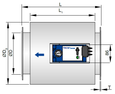 Control unit with acoustic cladding and flange (TVE-D-FL)