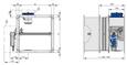 FK2-EU mit Belimo-Federrücklaufantrieb und Rauchauslöseeinrichtung (FK2-EU/.../Z4*RM) Baugröße 2 und 3