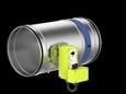 FKR-EU mit Federrücklaufantrieb in Ex-Ausführung Stutzenausführung