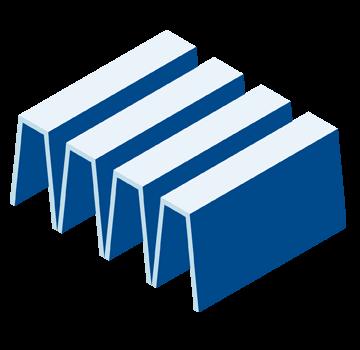 Illustration TROX LUFTREINIGER extrem langlebiger Filter