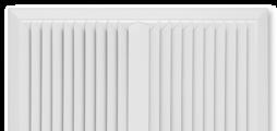 Pour soufflage horizontal une à quatre directions, avec ailettes fixes – façade en tôle d'acier