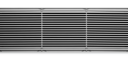 Ventilation grilles, made of aluminium, with fixed longitudinal blades, for floor installation – also for horizontal runs