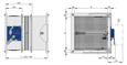 FK2-EU mit Schmelzlot und Abschlussgitter als Überströmungsverschluss Baugröße 2 und 3