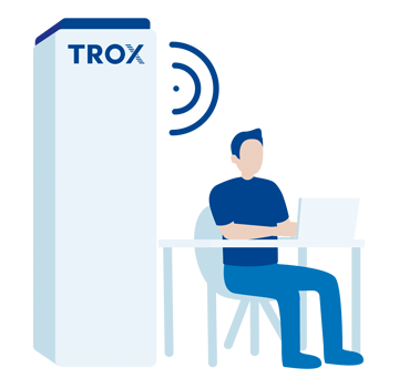 TROX Air purifier - Quiet operation