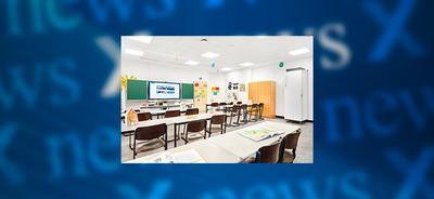 Newsbanner TROX Luftreiniger in Schule