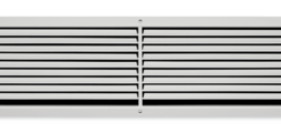 Ventilation grilles, made of sheet steel, with individually adjustable, horizontal blades