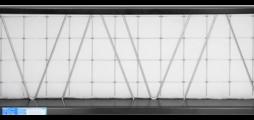 Contre-cadre pour fixation du média filtrant, pour un montage rapide et simple des grilles de ventilation à fonction de filtration