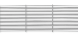 Grille cores made of aluminium, with fixed horizontal blades