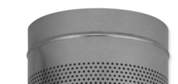 Impulsrooster met rond huis voor industriële toepassing zonder luchtvervuilende processen.
