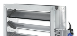 Multileaf dampers made of aluminium for extremely low-leakage shut-off in air conditioning systems