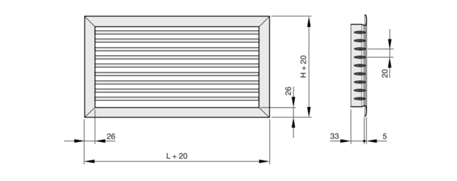 serie x grille basic trox gmbh. Black Bedroom Furniture Sets. Home Design Ideas