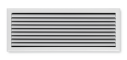 Ventilation grilles with flat border construction – also for continuous horizontal runs