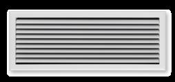 Luchtroosters met vlak uitlopend frontraam - ook als roosterband