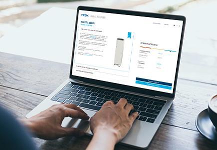 TROX AHA+L Online Rechner