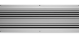 Non-vision air transfer grilles, made of aluminium, with fixed horizontal blades