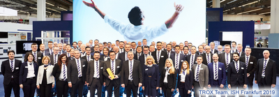 TROX Messeteam auf der ISH Frankfurt 2019