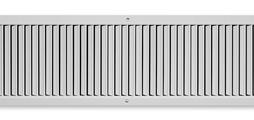 Ventilation grilles, made of sheet steel, with individually adjustable, vertical blades