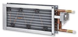 Lufterhitzer zur Nacherwärmung der Zuluft, passend zu RLT-Geräten der Serie X- CUBE compact.